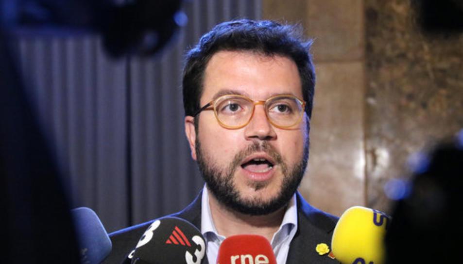 El vicepresident, Pere Aragonès, en una imatge d'arxiu.