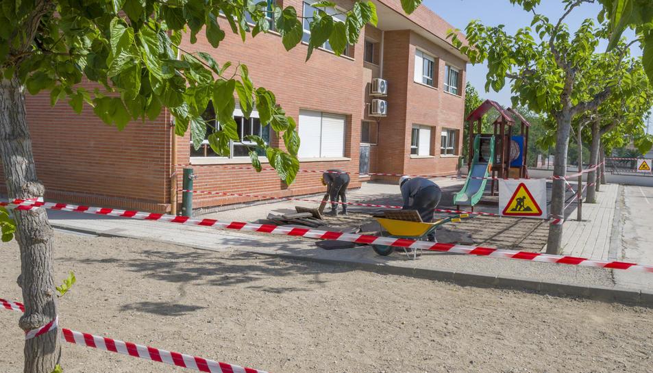 Les obres a l'Escola Mossèn Ramon Bergadà s'han iniciat coincidint amb el període de vacances escolars.