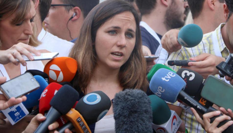 La diputada de Podemos Ione Belarra, en una imatge d'arxiu.
