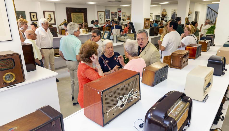 L'acte d'inauguració del passat dissabte al Museu de la Ràdio.