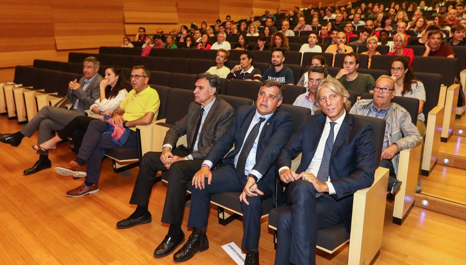 L'administrador concursal, David López, en la presentació de la Fundació Futbol Base Reus.