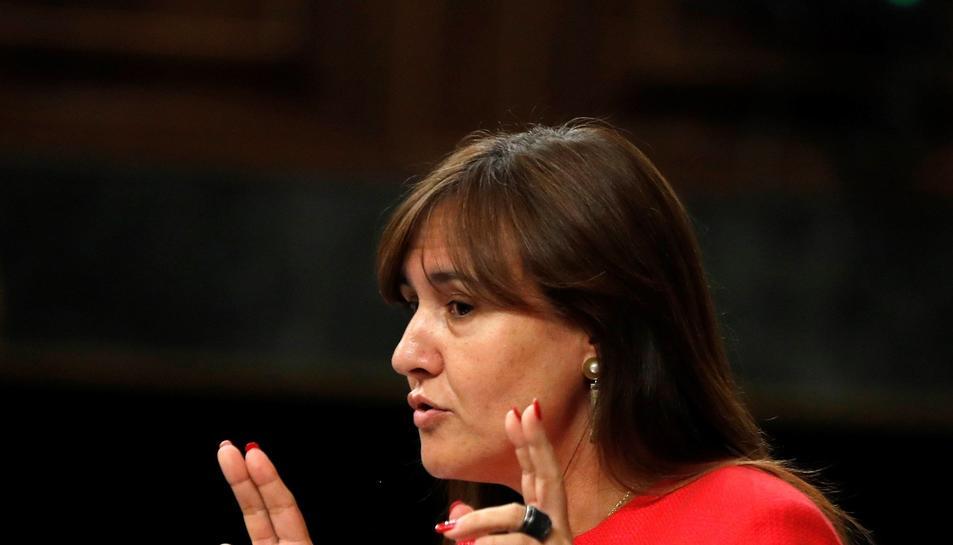 Laura Borràs, durant la seva intervenció.