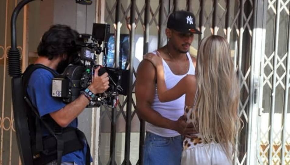 Un moment de l'enregistrament del videoclip.