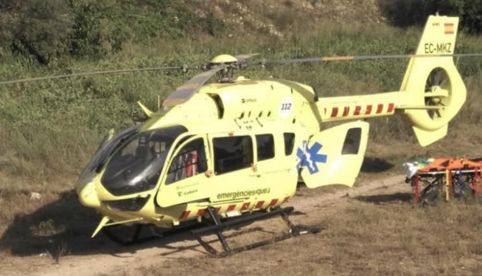 El menor va ser traslladat amb un helicòpter medicalitzat a l'Hospital Parc Taulí de Sabadell.