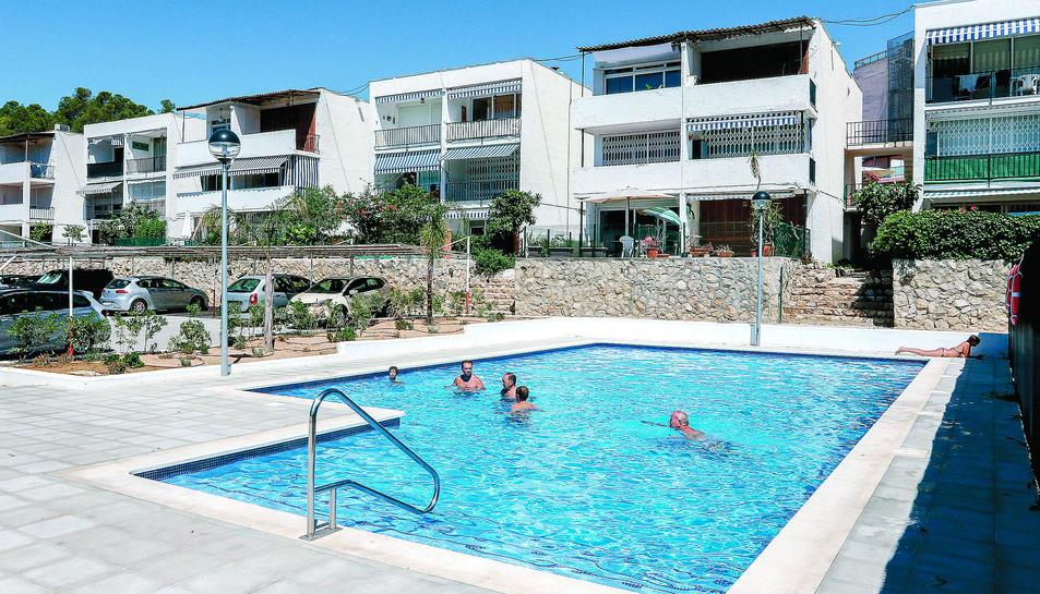 La piscina de Cala Viña, aquest mateix dilluns.