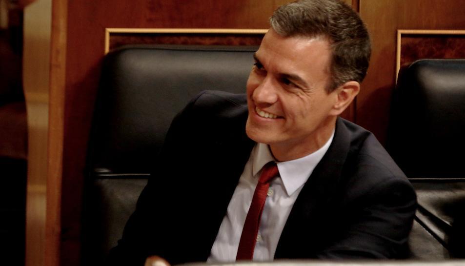 El secretari general del PSOE, Pedro Sánchez, durant el debat d'investidura el 22 de juliol del 2019.