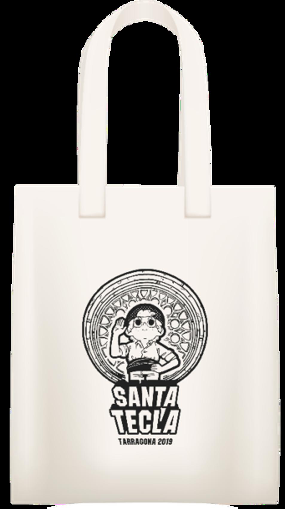 Imatge de la tote bag de Santa Tecla 2019.