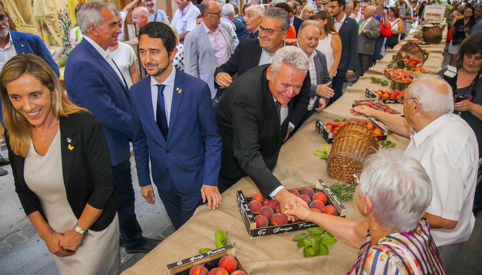 Instant de la inauguració de la Firagost, avui, a Valls.