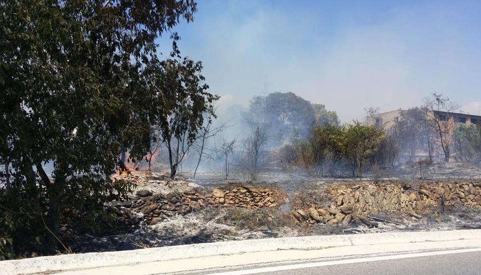Imatge de l'incendi dels Pallaresos.