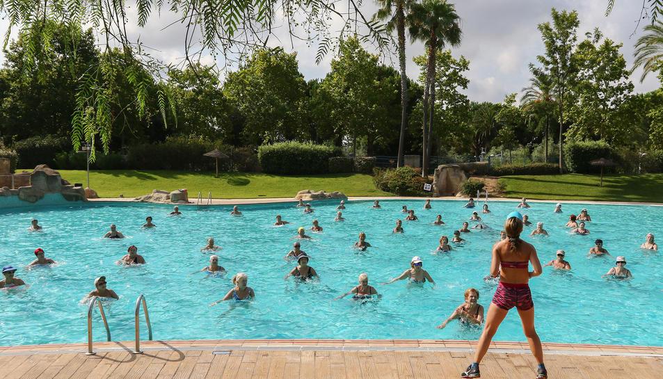 Aiguagim a les piscines municipals de Reus