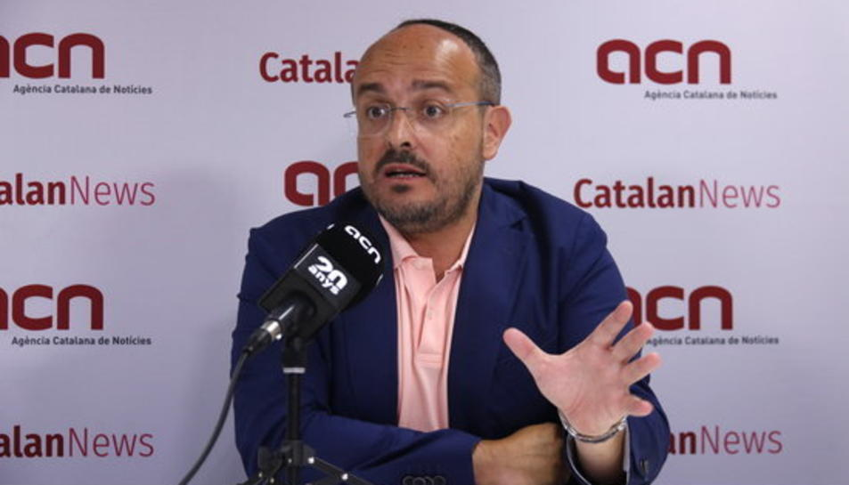 Alejandro Fernández, durant una entrevista amb l'ACN.