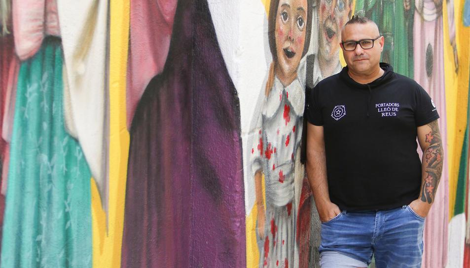 Josep Lluís Rius, al grafit del Seguici.