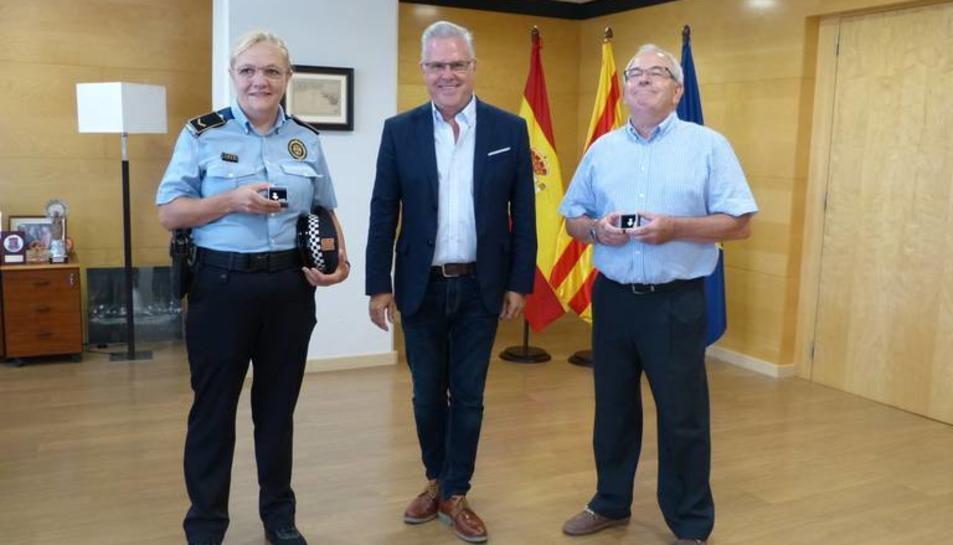 Consol Buj iJoaquim Cazorla amb Pere Granados.