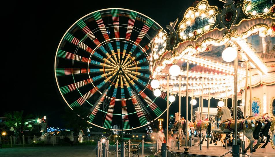 Imatge d'arxiu d'un parc d'atraccions.