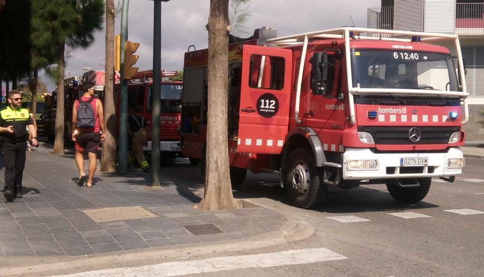 Imatge dels Bombers a Torres Jordi.