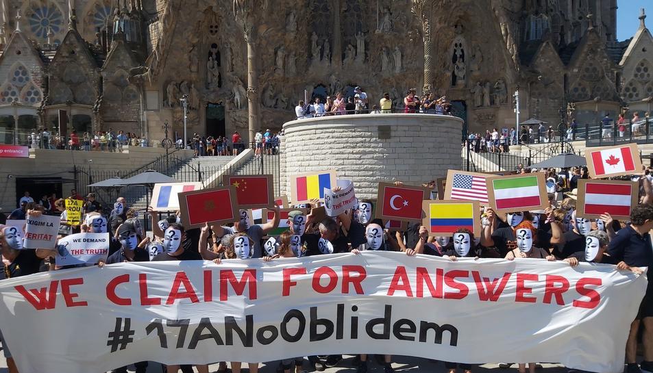 Imatge de la protesta convocada pel CDR.