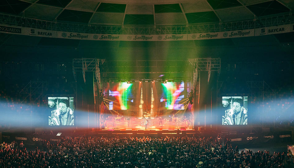 Imatge del concert de Manuel Carrasco a la TAP aquest agost.