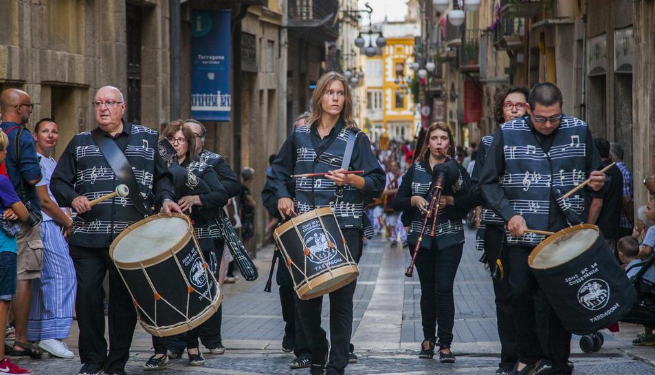 La banda durant la darrera Professó de Sant Magí el passat dilluns 19 d'agost.