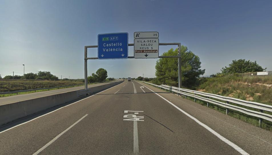 L'accident s'ha produït a l'AP-7 al terme municipal de Vila-seca.