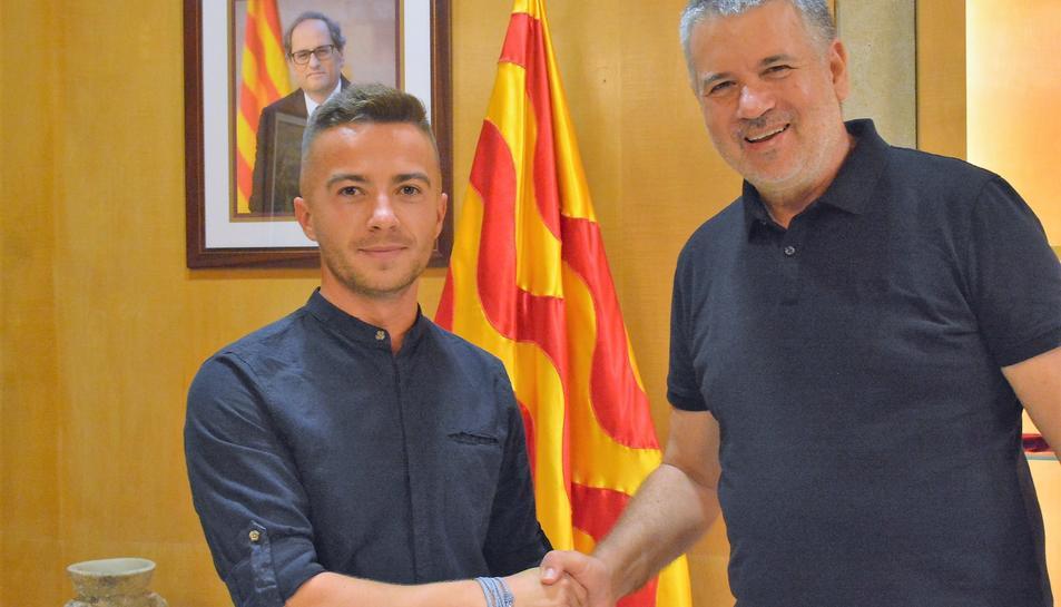 L'alcalde de Tarragona Pau Ricomà s'ha reunit amb el director de 'La vida con Williams', Emanuel Munteanu.