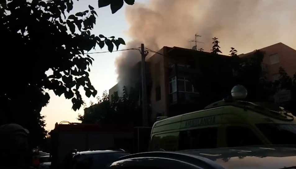 Imatge de l'incendi de Salou.