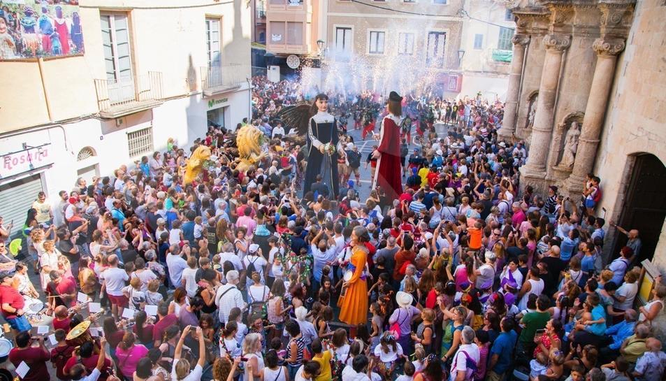 Fiesta de bienvenida a los gegants del Vendrell