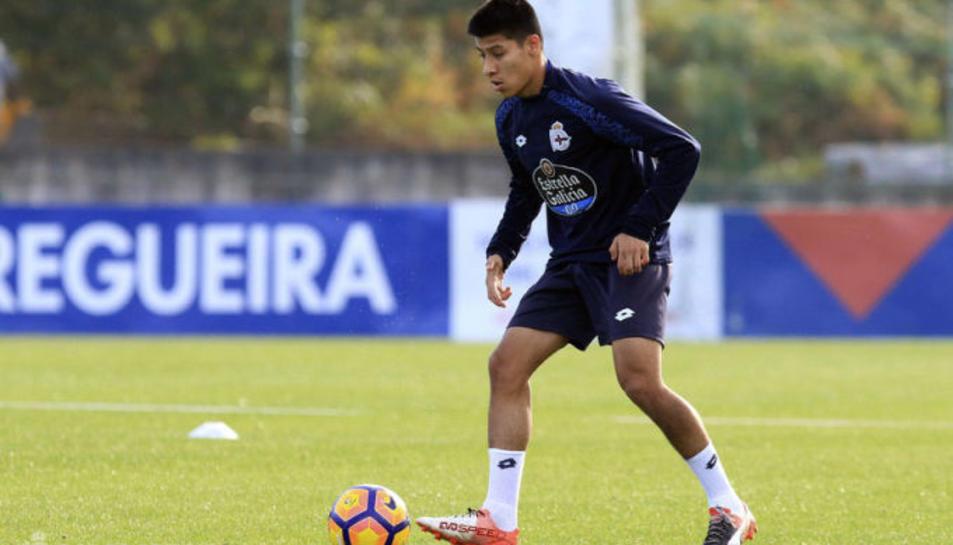 Jorge Carreón, amb el Deportivo Fabril