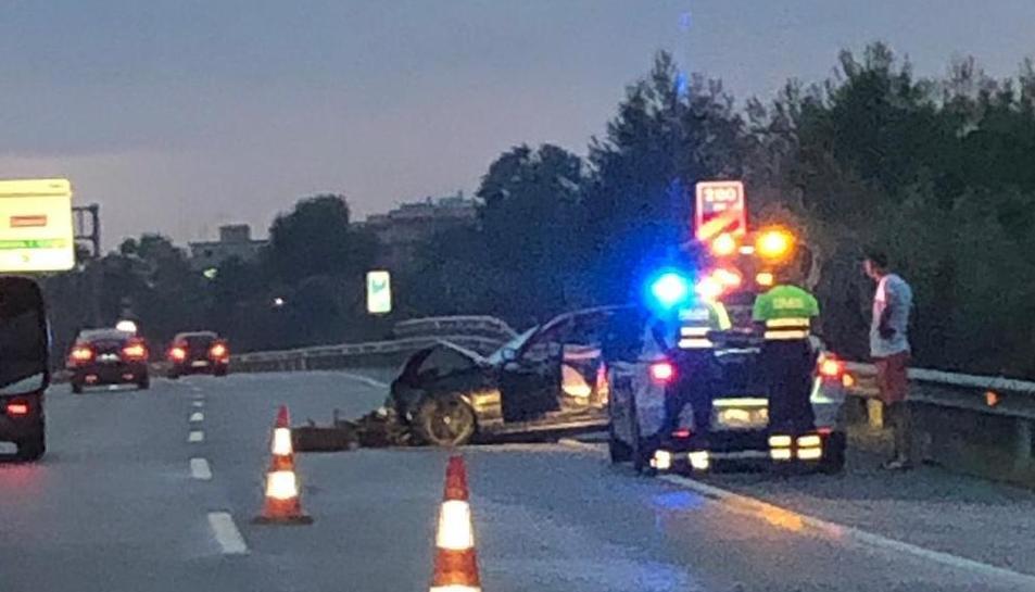 El vehicle accidentat