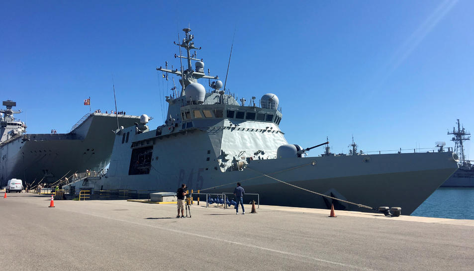 Imatge del vaixell espanyol Audaz.