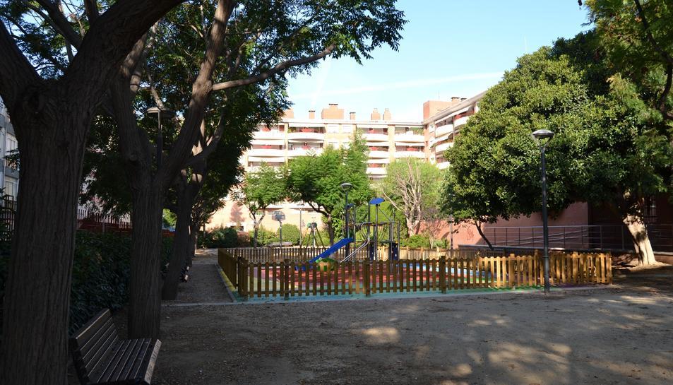 Imatge del parc d'Àngel Guimerà un cop reformat.