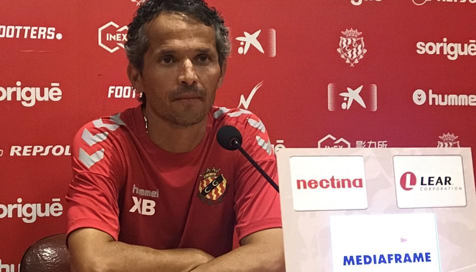 L'entrenador del Nàstic, Xavi Bartolo, en roda de premsa aquest 30 d'agost.