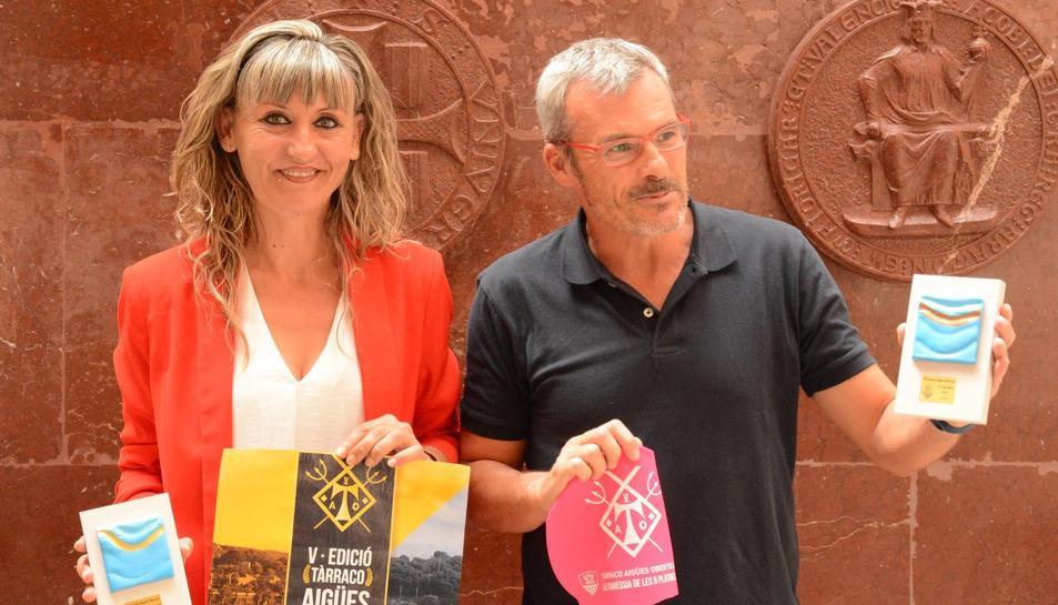 La regidora d'Esports, Mary López, i el vicepresident del CN Tàrraco, Toni Pérez-Portabella.