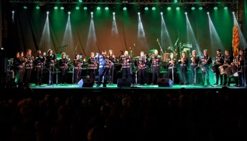 Sons de la Cossetània, durant el concert al festival celebrat a Viana do Castelo el passat dissabte.