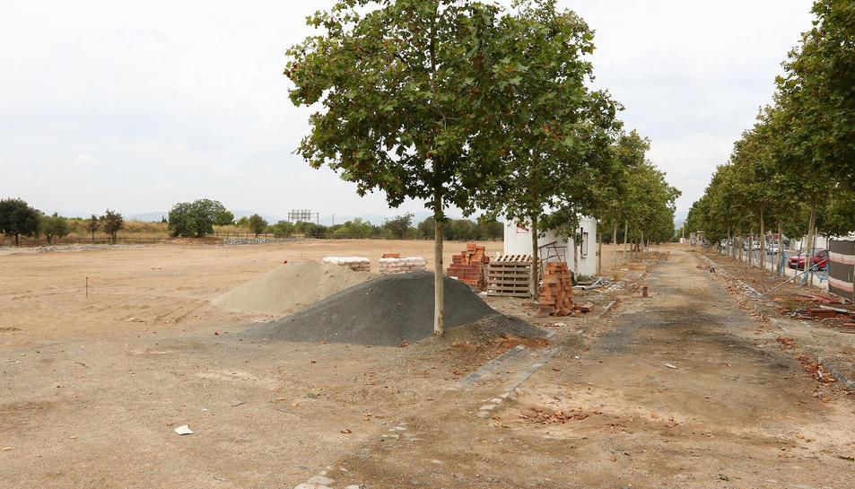 Aquest és l'estat que presentaven les obres a finals d'agost.