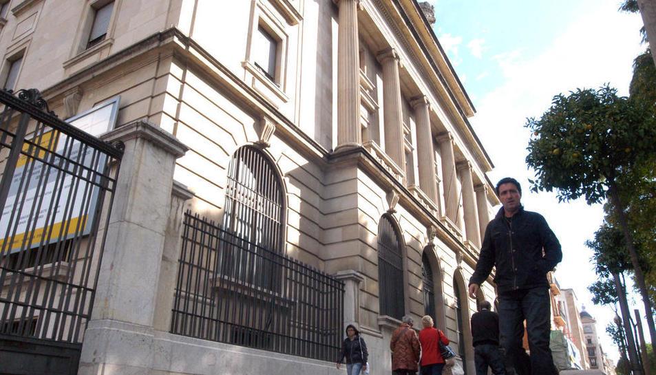 Imatge d'arxiu de l'edifici del Banc d'Espanya de la Rambla Nova.