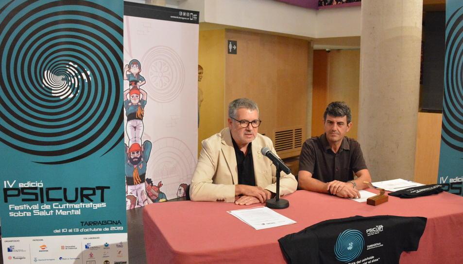 L'alcalde de Tarragona i conseller de Cultura, Pau Ricomà, amb el