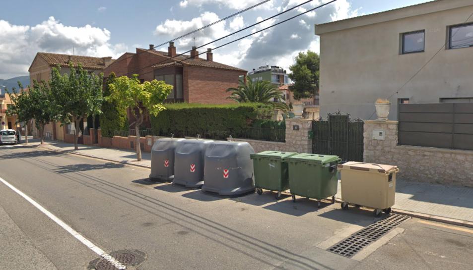 Imatge d'uns contenidors a Montblanc.