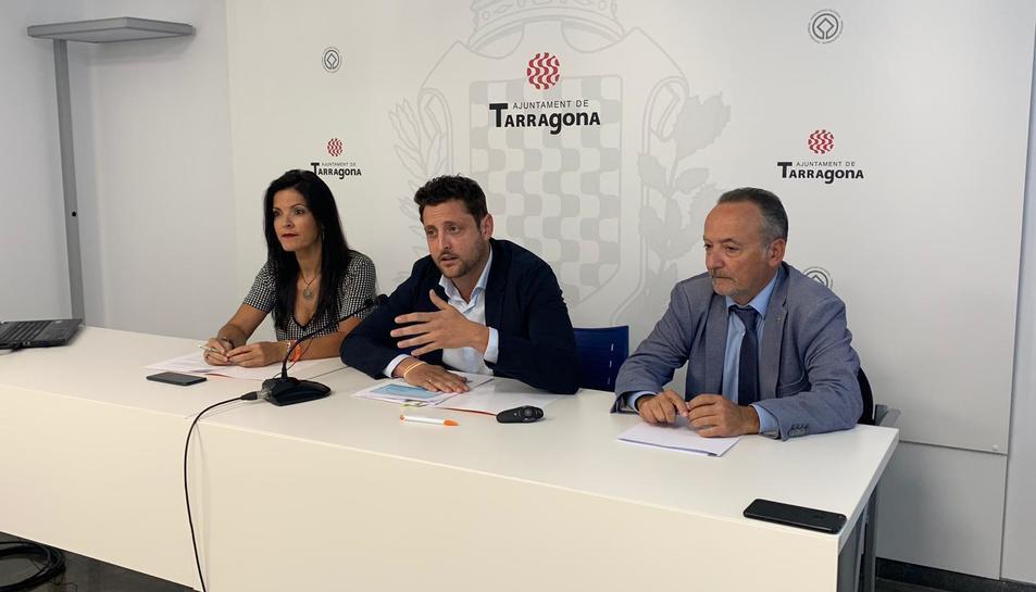 Imatge de la roda de premsa de Ciutadans Tarragona.