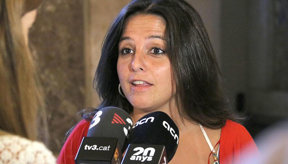 La diputada de la CUP-CC Maria Sirvent.