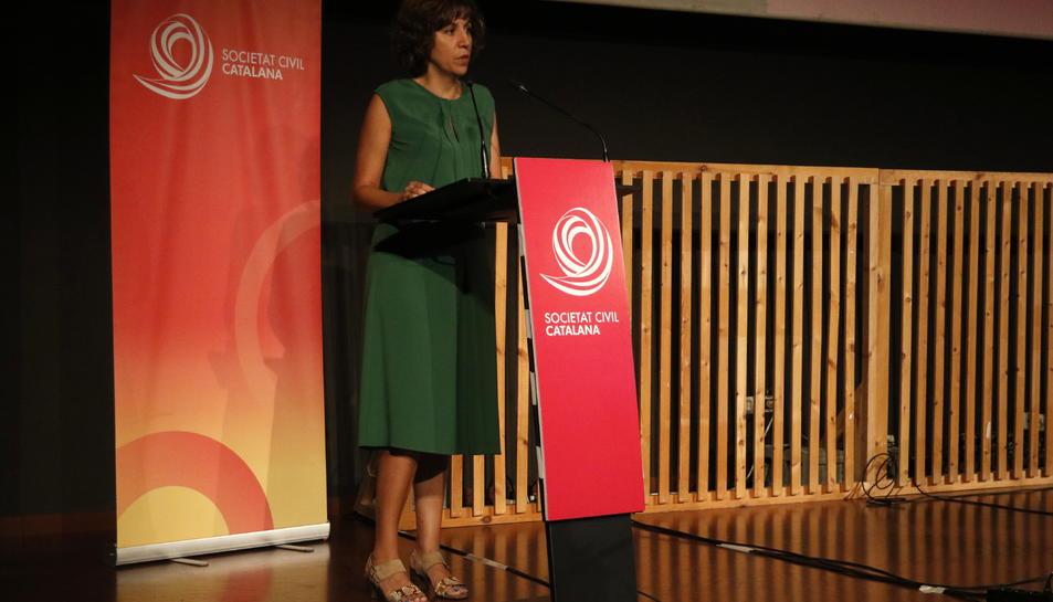 La directora d'España Global, Irene Lozano, durant la jornada de SCC.