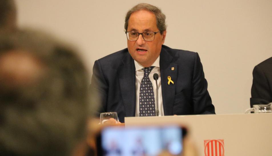 El president de la Generalitat, Quim Torra encapçala la presentació del projecte IdentiCAT.