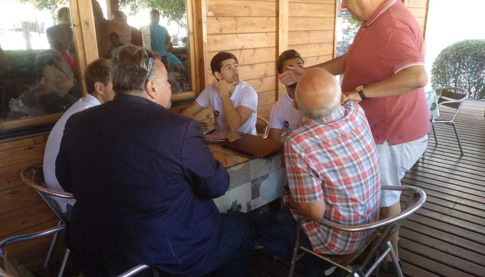 Onolfo, els àrbitres i representants arbitrals i del Vilafranca