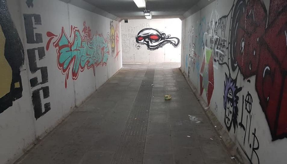 Imatge del túnel de l'estació de Vila-seca.