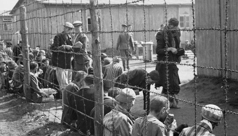 Imatge del camp de concentració de Bergen Belsen.