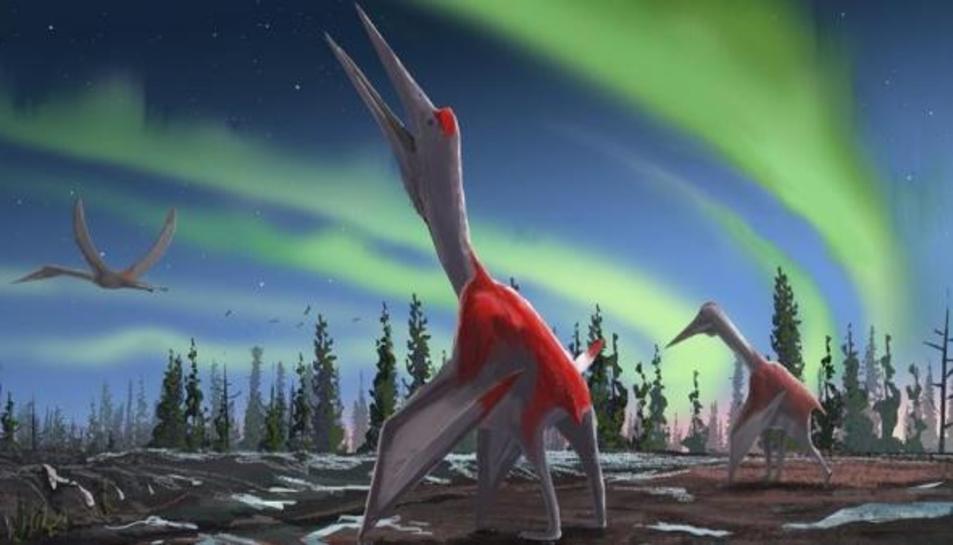 Il·lustració dels pterosaures que van dominar els cels sobre Amèrica del Nord en l'època del Cretaci.
