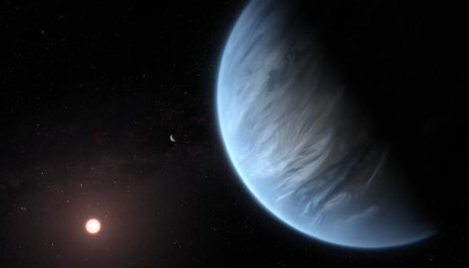 Representació de l'exoplaneta K2-18b.