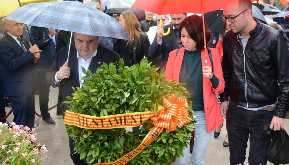 L'acte ha estat marcat per la intensa pluja i l'absència de l'alcalde de Tarragona, Pau Ricomà.