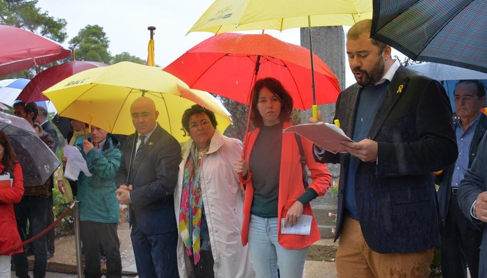 El conseller i portaveu de l'equip de govern, Xavi Puig, durant el parlament de la Diada.
