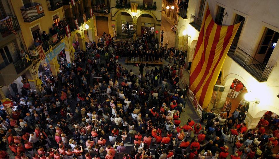 Acte de la Diada ahir al vespre a Valls.