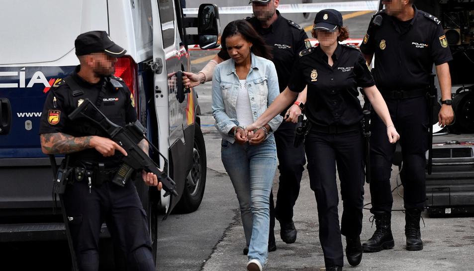Ana Julia Quezada, autora confessa de la mort del nen Gabriel Cruz, és traslladada a l'Audiència Provincial d'Almeria on aquest dijous se celebra la quarta jornada del judici.